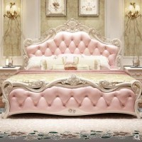 现代简约实木欧式床家具套装组合